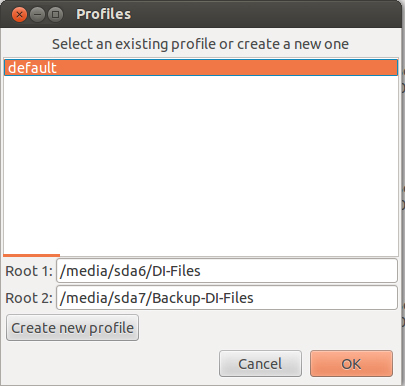 Unison default profile